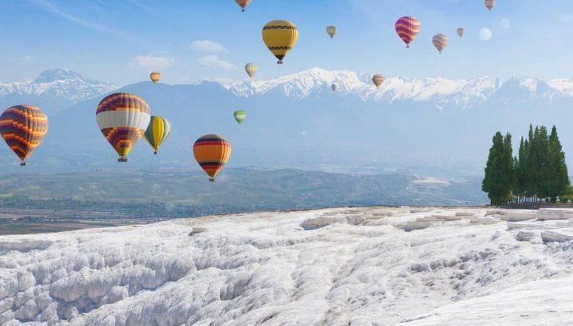 Воздушные шары в Памуккале